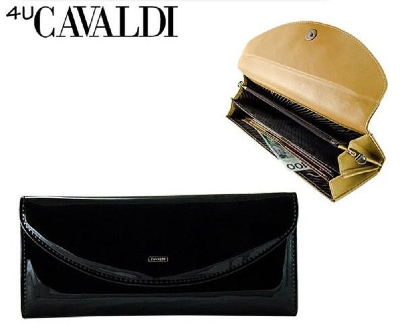 d7631e25067 Listová kabelka lakovaná čierna - Cavaldi - 11620236 | Dámske kožené ...