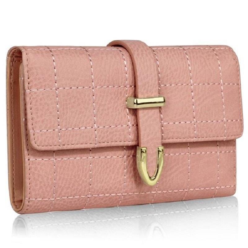 fe4735dfbe Štýlová prešívaná peňaženka - ružová – 11620313
