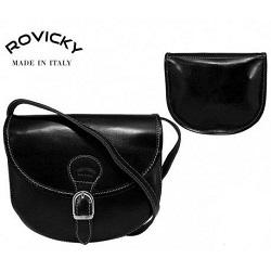 143c9be391 Talianská kožená crossbody kabelka čierna - Rovicky - 11620239