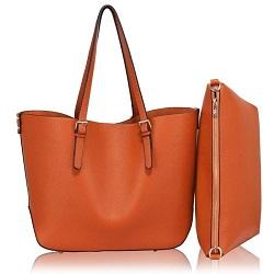 cc6376eea351 Dámska kabelka cez rameno s prídavnou taštičkou - hnedá - 11620308 empty
