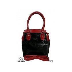 8c6f697778 Dámska kabelka z ekokože – čierno červená – CV ItalyFashion – 11620202 empty