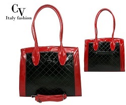 cbb9c08c9f Elegantná kabelka cez rameno - čierno-červená - CV ItalyFashion - 11620207  empty